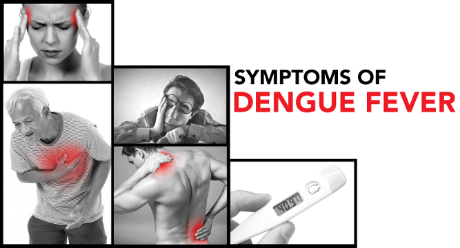 people experiencing symptoms of dengue fever