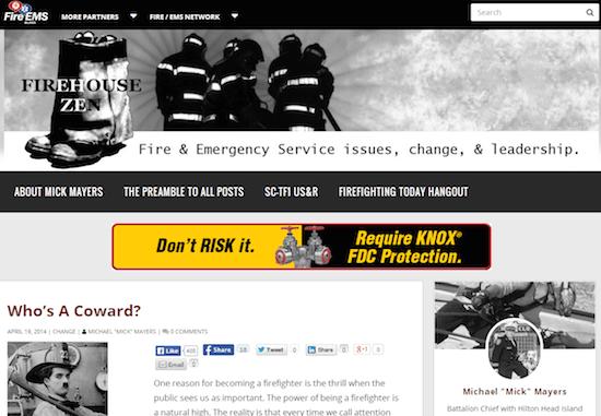 消防士のウェブサイト