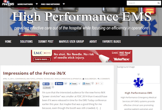 The High Performance EMS site