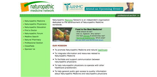 Best of Naturopathic Websites 2012 | Pacific Medical Training
